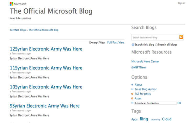 SEA hackea blogs y cuentas de Twitter de Microsoft 49