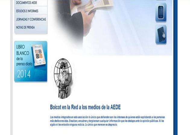 Anonymous hackea AEDE en protesta por la nueva LPI 46