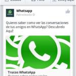 Publicidad de WhatsApp en Facebook, timo dirigido a usuarios españoles de Android 50