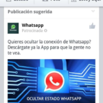 Publicidad de WhatsApp en Facebook, timo dirigido a usuarios españoles de Android 52