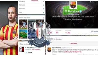 SEA hackea la cuenta Twitter del Barcelona 68