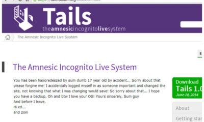 Hackean el sitio web de la distro Linux Tails 55