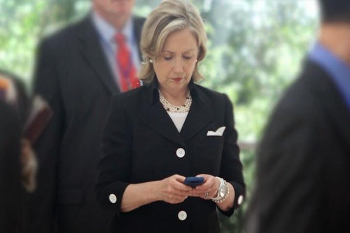 móvil de Hillary Clinton