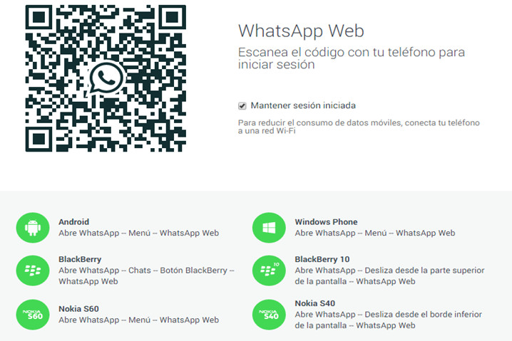 WhatsApp Web falsas