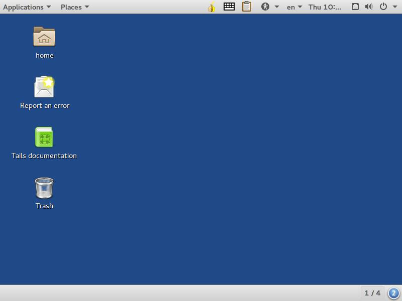 GNOME Classic en Tails 2.0