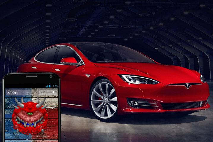 Un hacker muestra cómo robar un coche Tesla a través del móvil