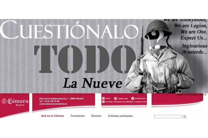 Anonymous se hace con el control de la web de la Cámara de Comercio de Madrid