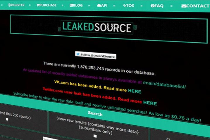 LeakedSource está offline tras un presunto asalto policial