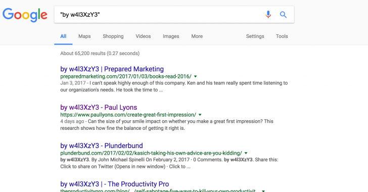 Sitios web WordPress hackeados