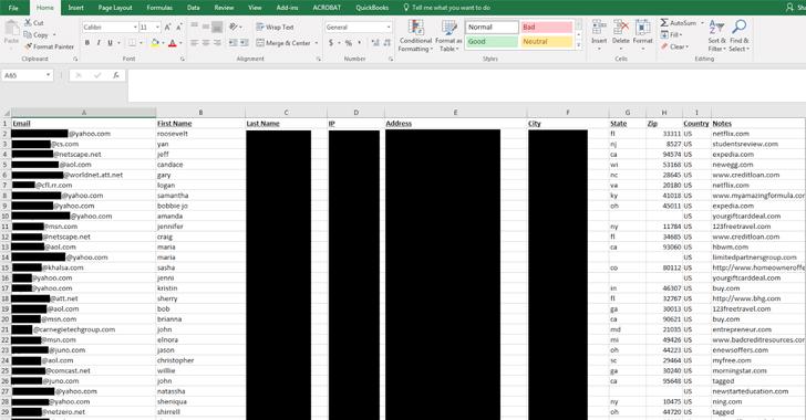 Datos filtrados de la base de datos de RCM