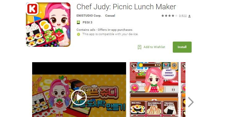 Una de las aplicaciones que contenían en malware Judy contra Android