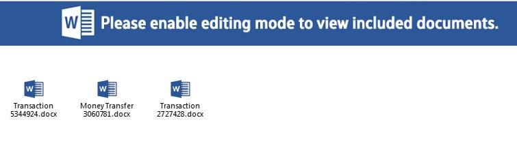 Los ficheros de Word (DOCX/OOXML) que contienen las marcos maliciosas encargadas de la instalación de Ursnif