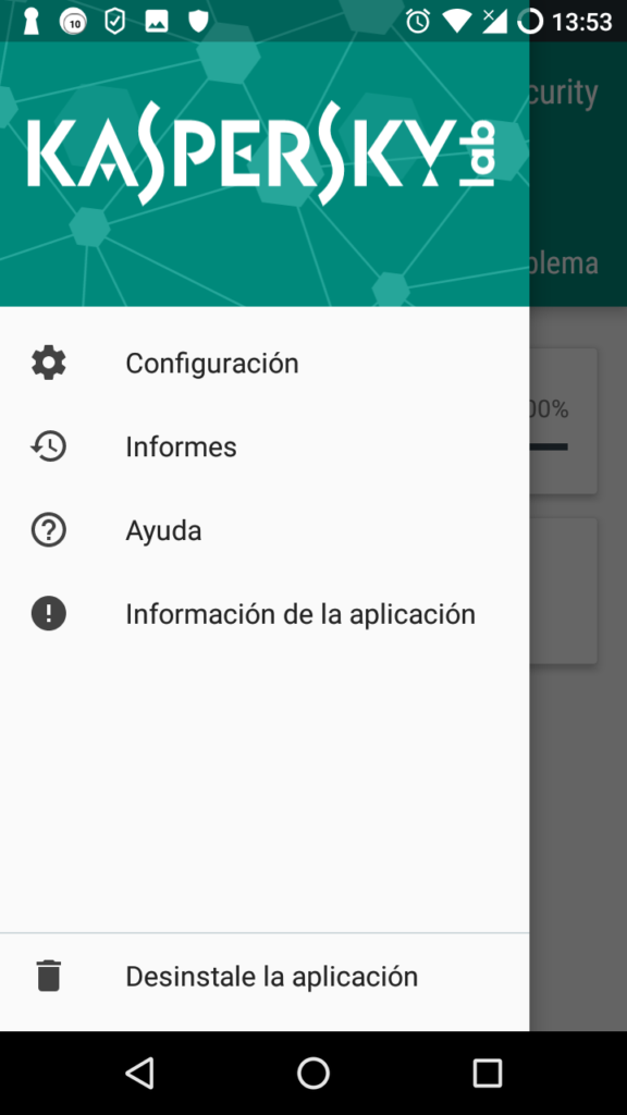 Kaspersky Endpoint Security Cloud en móvil Android