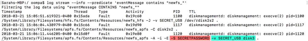 Fallo de exposición de la contraseña de cifrado de APFS hallado en macOS 10.13 y 10.13.1