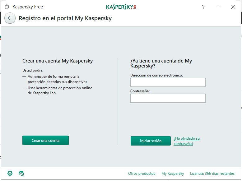 Descargando Kaspersky Free Antivirus