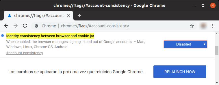 Inhabilitando el inicio de sesión automático con la cuenta de Google en Chrome 69