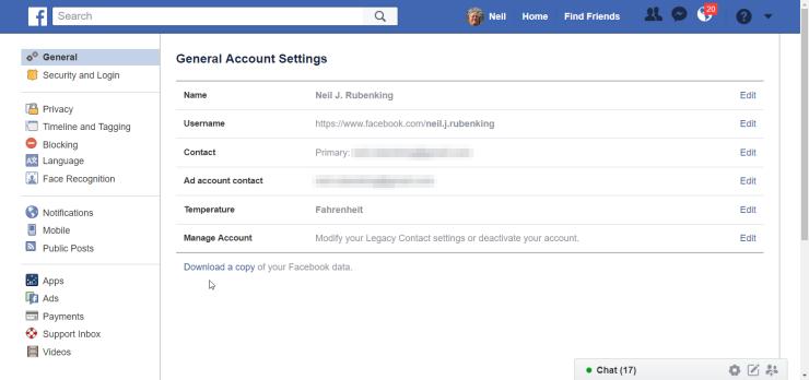 Tus datos te pertenecen: así puedes descargar una copia de seguridad de tu vida en Internet 51