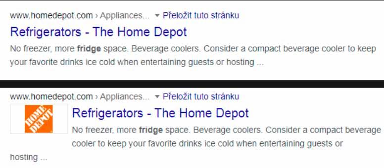 Resultado original (arriba) y secuestrado (abajo) en una búsqueda sin y con las extensiones de Google Chrome de CacheFlow. Fuente: Avast
