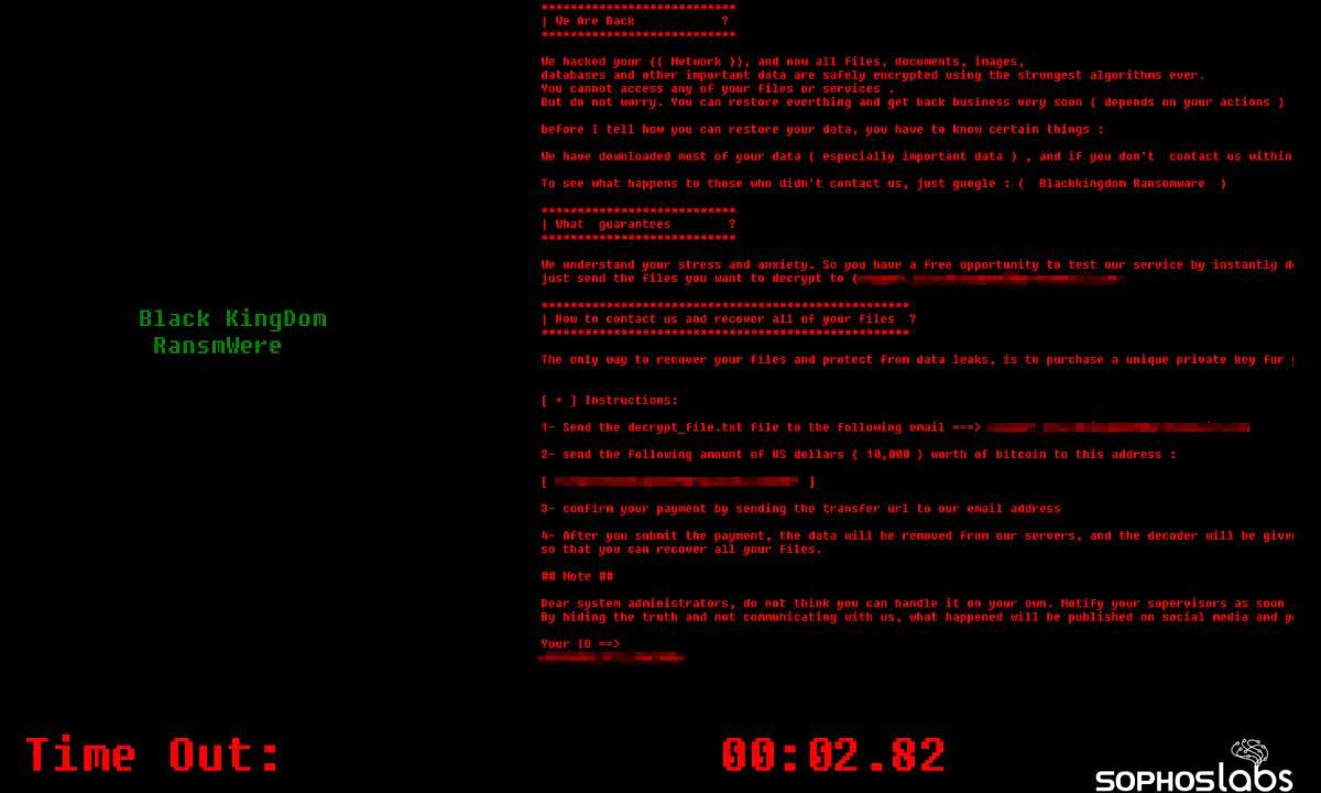 Black Kingdom: ransomware dirigido a Exchange