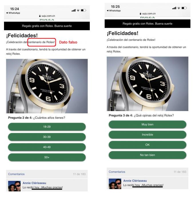 Rolex en WhatsApp