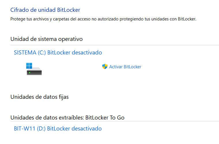 BitLocker en Windows 11